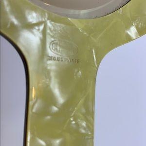 Dupont Bath - Vintage DuPont Hand Mirror   Pearl Ornate Floral